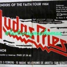 Fotos de Cantantes: JUDAS PRIEST + THOR, DEFENDERS OF THE FAITH TOUR 1984. HISTÓRICO CARTEL ORIGINAL, ANOETA. 95 X 130 C. Lote 155692026