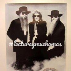 Fotos de Cantantes: ZZ TOP, RECYCLER (1990). CARTEL ORIGINAL PROMOCIONAL DEL ÁLBUM. 60X85 CMS. . Lote 155713866