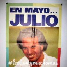 Fotos de Cantantes: JULIO IGLESIAS, CALOR (1992). CARTEL ORIGINAL PROMOCIONAL DEL ÁLBUM. 67X96CMS. . Lote 155714138