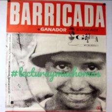 Fotos de Cantantes: BARRICADA. CARTEL ORIGINAL DE CONCIERTO EN BILBAO EN 1991. 87 X 146 CMS.. Lote 155714230