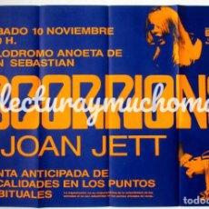 Fotos de Cantantes: SCORPIONS + JOAN JETT. CARTEL ORIGINAL CONCIERTO EN SAN SEBATIÁN EL 10/11/1985. 63 X 87 CMS.. Lote 155763918