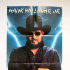 Fotos de Cantantes: HANK WILLIAMS JR., WILD STREAK (1988). CARTEL ORIGINAL PROMOCIONAL DEL ALBÚM. 58 X 89 CMS.. Lote 155780050