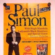 Fotos de Cantantes: PAUL SIMON. CARTEL ORIGINAL CONCIERTO VELODROMO DE ANOETA (SAN SEBASTIÁN), 8/7/1987. 34 X 48 CMS.. Lote 155787150