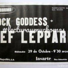 Fotos de Cantantes: DEF LEPPARD + ROCK GODDESS. CARTEL PROMOCIONAL CONCIERTO AUTÓDROMO LASARTE EN 1983.. Lote 138222706
