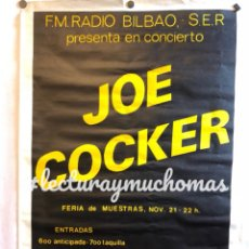 Fotos de Cantantes: JOE COCKER. CARTEL ORIGINAL CONCIERTO EN 1981 EN BILBAO. 66 X95 CMS.. Lote 120630367
