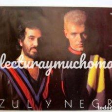 Fotos de Cantantes: AZUL Y NEGRO. CARTEL ORIGINAL PROMOCIONAL DE LOS AÑOS 80.. Lote 127883887