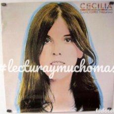 """Fotos de Cantantes: CECILIA. CARTEL ORIGINAL PROMOCIONAL DEL ÁLBUM """"CANCIONES INÉDITAS"""" (1983). 58 X 58 CMS.. Lote 128389563"""