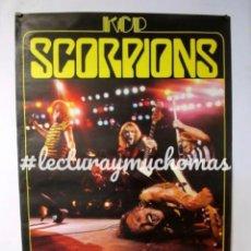 Fotos de Cantantes: SCORPIONS + BLACKFOOT. CARTEL ORIGINAL DE CONCIERTO DE 1982. 79 X 117 CMS.. Lote 128393171