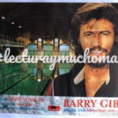 Fotos de Cantantes: BARRY GIBB, NOW VOYAGER (1984). CARTEL PROMOCIONAL ORIGINAL, POLYDOR. 55 X 70 CMS. BEE GEES.. Lote 120714188