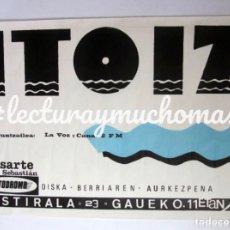 Fotos de Cantantes: ITOIZ. AUTÓDROMO DE LASARTE. CARTEL ORIGINAL DEL CONCIERTO 96X65CMS.. Lote 138209034