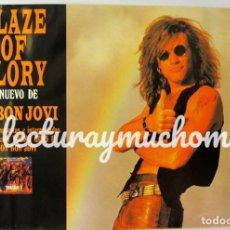 "Photos de Chanteurs et Chanteuses: JON BON JOVI ""BLAZE OF GLORY"" (1990). CARTEL PROMOCIONAL DEL ÁLBUM DEBUT.. Lote 147033390"