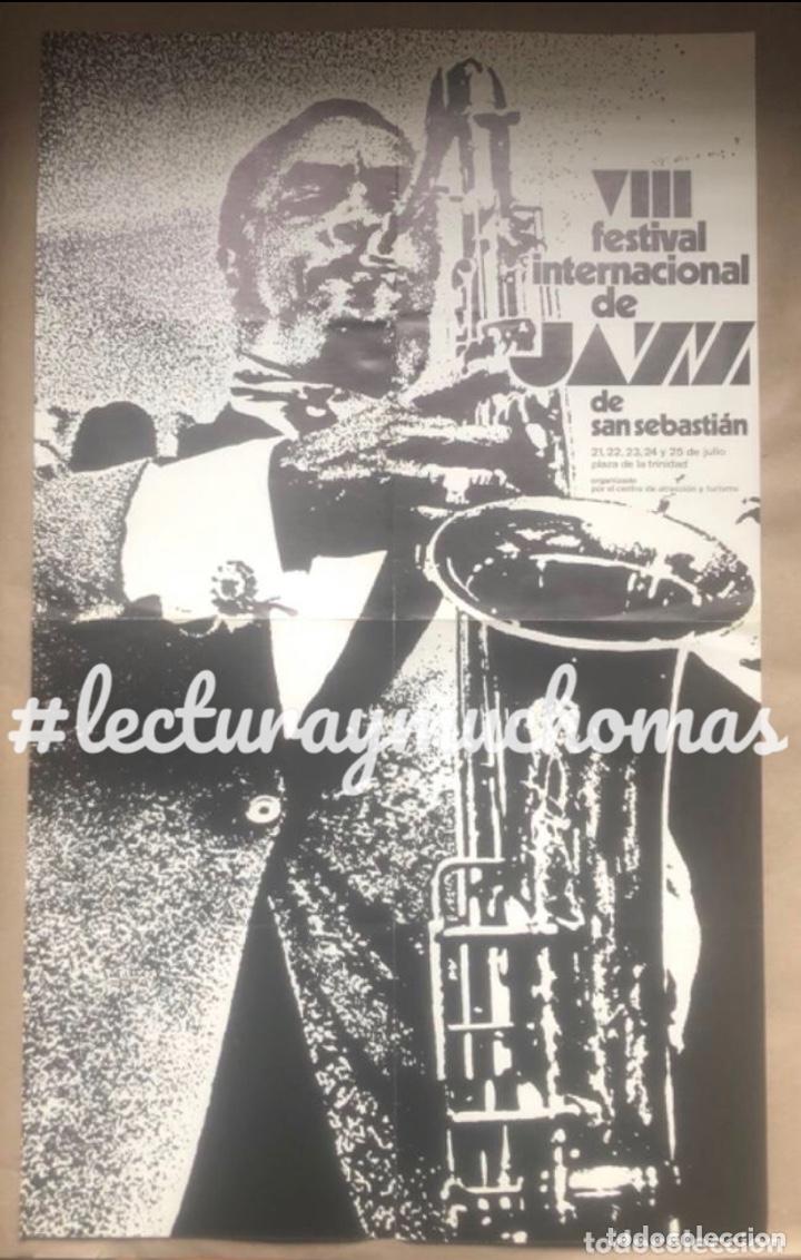 VIII FESTIVAL INTERNACIONAL DE JAZZ DE SAN SEBASTIÁN 1983. CON EL PROGRAMA AL DORSO. 36 X 59 CMS. (Música - Fotos y Postales de Cantantes)