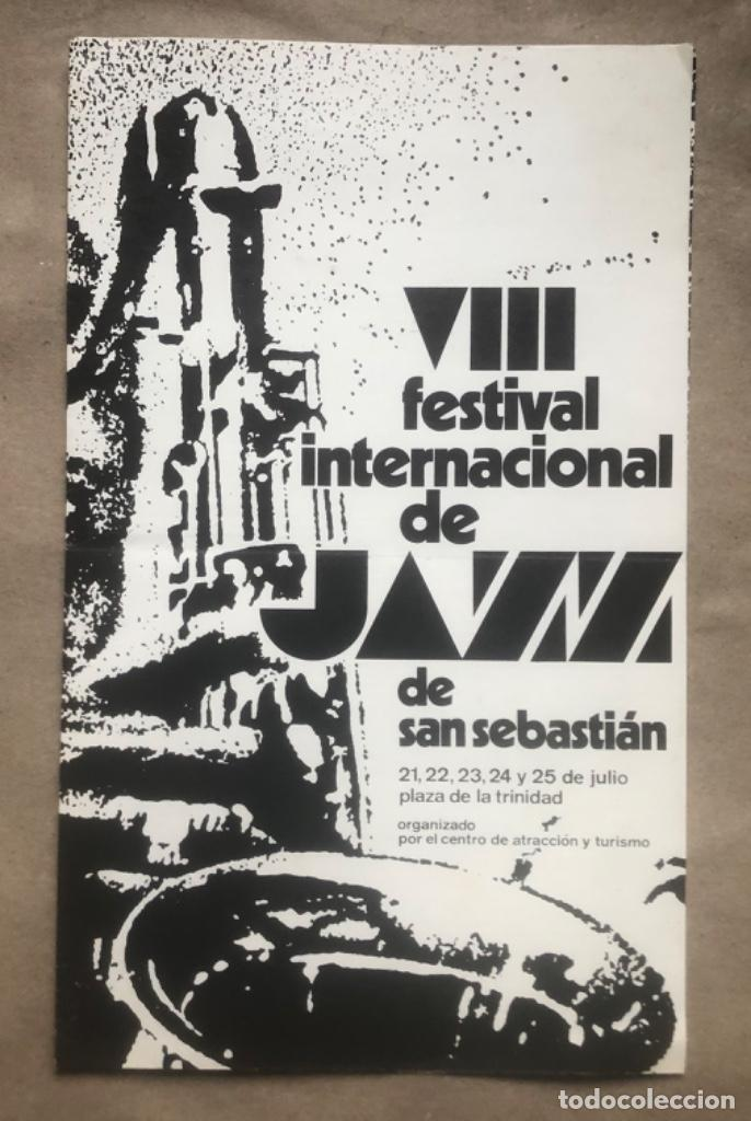 Fotos de Cantantes: VIII FESTIVAL INTERNACIONAL DE JAZZ DE SAN SEBASTIÁN 1983. CON EL PROGRAMA AL DORSO. 36 x 59 Cms. - Foto 2 - 147602594