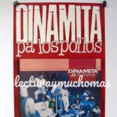 Fotos de Cantantes: DINAMITA PA LOS POLLOS, PURITA DINAMITA (1989). CARTEL ORIGINAL PROMOCIONAL DEL ÁLBUM. 35 X 63 CMS.. Lote 128490403
