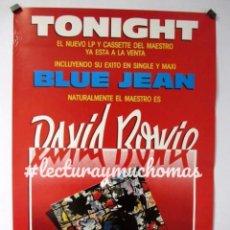Fotos de Cantantes: DAVID BOWIE, TONIGHT (1984). CARTEL ORIGINAL PROMOCIONAL DEL ÁLBUM. 46X68 CMS.. Lote 128491331