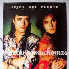 """Fotos de Cantantes: LA DAMA SE ESCONDE """"LEJOS DEL PUERTO"""" (1990). CARTEL ORIGINAL PROMOCIONAL DEL ÁLBUM.. Lote 93843005"""
