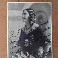 Fotos de Cantantes: FOTO DEDICADA Y FIRMADA PEPITA RODORERA CANTANTE OPERA BUENOS AIRES 1930. Lote 157340882