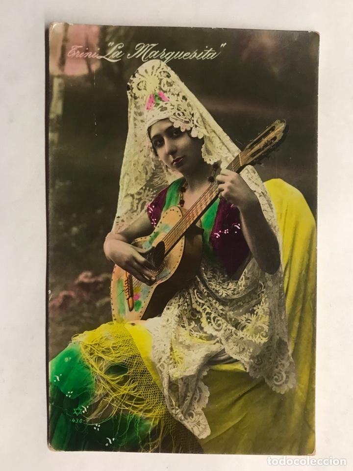 POSTAL. CUPLETISTA. TRINI LA MARQUESITA. ESPAÑA (A.1921) (Música - Fotos y Postales de Cantantes)