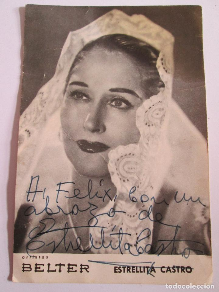 ESTRELLITA CASTRO - FOTOGRAFIA DEDICADA - ARTISTAS BELTER - 16X10,5 (Música - Fotos y Postales de Cantantes)