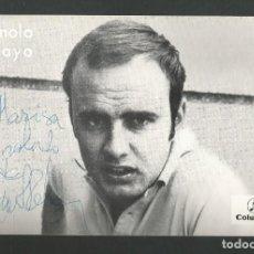 Fotos von Musikern - FOTO POSTAL DISCOGRAFICA CANTANTE MANOLO PELAYO - COLUMBIA - EDITA OFFSET IBERICA - 157920902