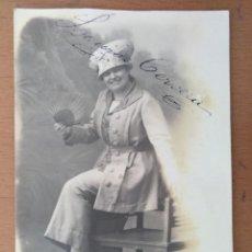 Fotos de Cantantes: FOTO FIRMADA LAURA CERVERA CANTANTE DE OPERA BARCELONA 1919. 9 X 13 CM (APROX). Lote 158400294