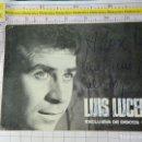 Fotos de Cantantes: FOTO POSTAL DE MÚSICA. LUIS LUCENA. CON AUTÓGRAFO DEDICATORIA. 105. Lote 159811618