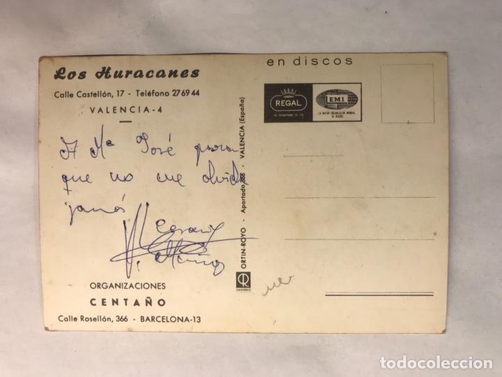 Fotos de Cantantes: MÚSICA. Los Huracanes. Postal Discográfica. Edita : Ed. Ortin Royo (h.1960?) - Foto 2 - 159919356