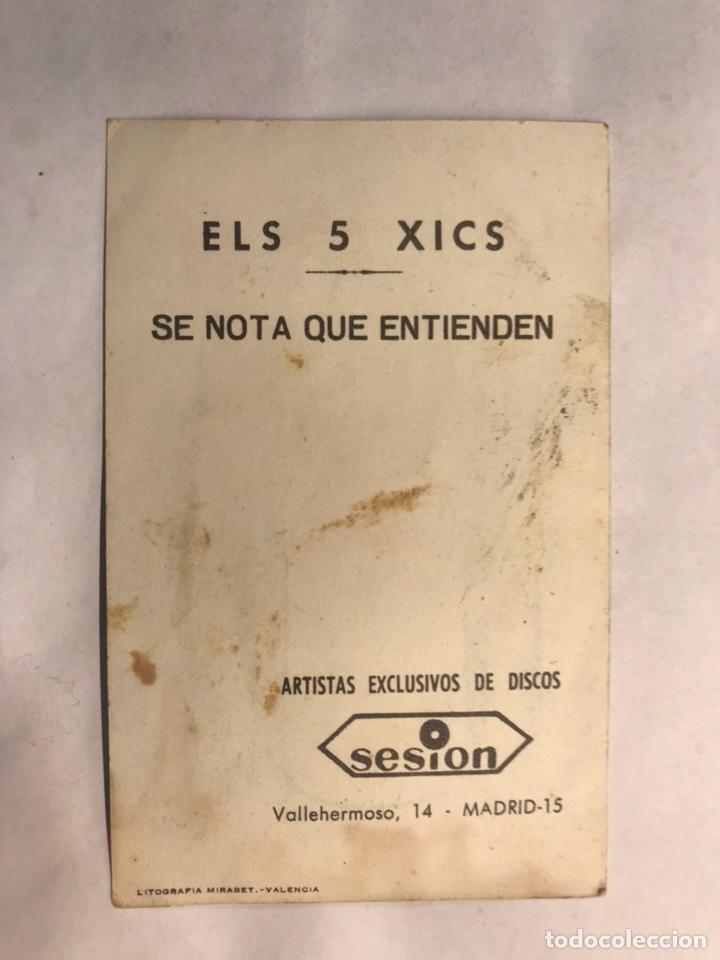Fotos de Cantantes: MÚSICA. ELS 5 XICS. Postal Discográfica Edita:Litografía Mirabet (h.1960?) - Foto 2 - 159919388