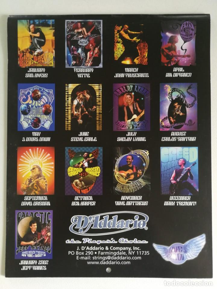 DADDARIO LIVE PLAYERS 2001 CALENDAR (GUITAR & BASS)