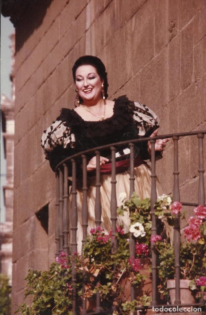 MONTSERRAT CABALLÉ. FOTOGRAFÍA BARBIERE DI SIVIGLIA. EL BARBERO DE SEVILLA. NICE. NIZA. 1981. (Música - Fotos y Postales de Cantantes)