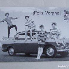 Fotos de Cantantes: POSTAL FELIZ VERANO SGT. BEATLES FAN CLUB 2011. Lote 161354221