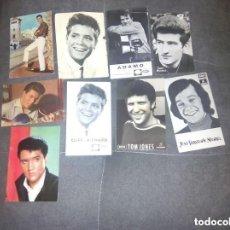 Fotos de Cantantes: CANTANTES EXTRAJEROS LOTE 9 POSTALES AÑOS 60. Lote 161302250