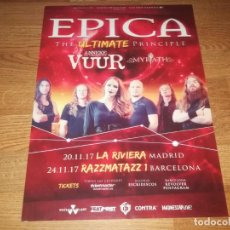 Fotos de Cantantes: EPICA PROMO CONCERT POSTER TOUR SPAIN 2017 43X30 CM-WHITIN TEMPTATION-NIGHTWISH. Lote 162525366
