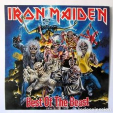 Fotos de Cantantes: IRON MAIDEN BEST OF THE BEAST. CARTEL EN MATERIAL DE CARTULINA 30 X 30 IDEAL PARA ENMARCAR. Lote 163741686