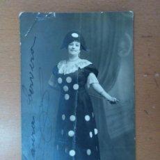 Fotos de Cantantes: FOTO FIRMADA LAURA CERVERA EN EL PAPEL DE NEDDA EN LA OPERA I PAGLIACCI 1918. Lote 163847534