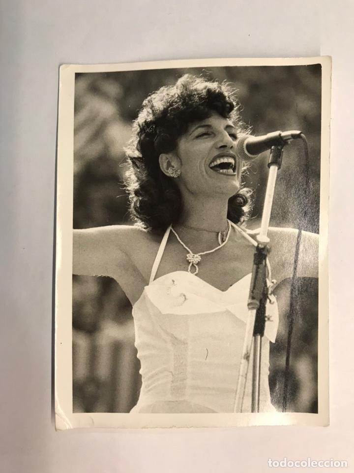 MERXE BANYULS. ELS PAVESOS CANTANTE VALENCIANA FOTOGRAFÍA ORIGINAL (H.1960?) (Música - Fotos y Postales de Cantantes)