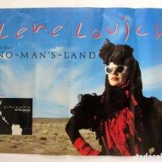 Fotos de Cantantes: LENE LOVICH. NO MAN´S LAND (1982). CARTEL ORIGINAL PROMOCIONAL DEL L.P. 47X68 CMS.. Lote 165092350