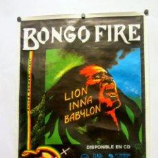 Fotos de Cantantes: BONGO FIRE. LION INNA BABYLON (1993). HISTÓRICO CARTEL PROMOCIONAL DEL ALBUM. REGGAE.. Lote 165102814