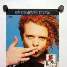 Fotos de Cantantes: SIMPLY RED. MEN AND WOMEN (1987). CARTEL REVERSIBLE PROMOCIONAL DEL ALBUM 22X30CMS.. Lote 165160198
