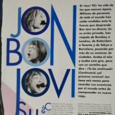 Fotos de Cantantes: REPORTAJE N°3 JON BON JOVI. Lote 166736044