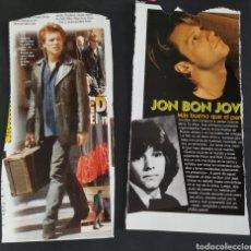 Fotos de Cantantes: RECORTES N°6 JON BON JOVI. Lote 166736104