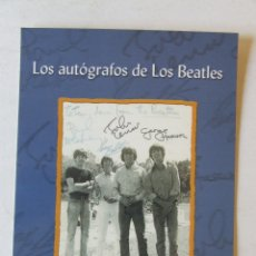 Fotos de Cantantes: POSTAL PROMOCIONAL LIBRO LOS AUTOGRAFOS DE LOS BEATLES JUAN AGÜERAS. Lote 167124116