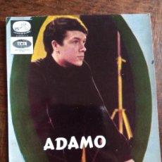 Fotos de Cantantes: ADAMO CON FIRMA ORIGINAL - FOTO POSTAL ORIGINAL -. Lote 168471616