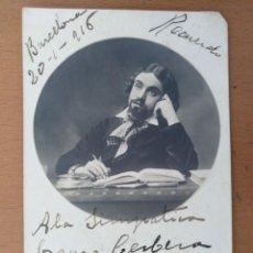 Fotos de Cantantes: FOTO DEDICADA Y FIRMADA MIQUEL MULLERAS CANTANTE DE OPERA CARACTERIZADO BARCELONA 1916. Lote 169887686