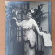 Fotos de Cantantes: FOTO DEDICADA Y FIRMADA ELENA CANTANTE DE OPERA 1917 ALFONSO FOTOGRAFO (MADRID). Lote 169887705