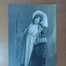 Fotos de Cantantes: FOTO FIRMADA DE LAURA CERVERA CANTANTE EN EL PAPEL DE MUSETTA EN LA OPERA LA BOHEME 1918. Lote 169887746