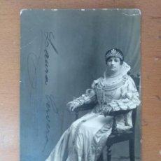 Fotos de Cantantes: FOTO FIRMADA POR LAURA CERVERA EN EL PAPEL DE REINA MARGARITA EN LA OPERA GLI UGONOTTI 1918. Lote 169887798