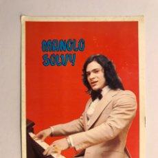 Fotos de Cantantes: MÚSICO. MANOLO SOLVY. POSTAL DISCOGRÁFICA. FIRMADA POR EL CANTANTE (H.1960?). Lote 170205438