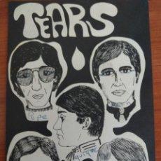 Fotos de Cantantes: FOTO - TARJETA IMPRESA GRUPO MÚSICA TEARS. Lote 170952474