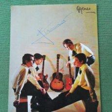 Fotos de Cantantes: LOS BRINCOS FOTOGRAFÍA PROMOCIONAL CON AUTÓGRAFO. Lote 171274678